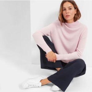 Everlane soft pink cashmere mockneck sweatee